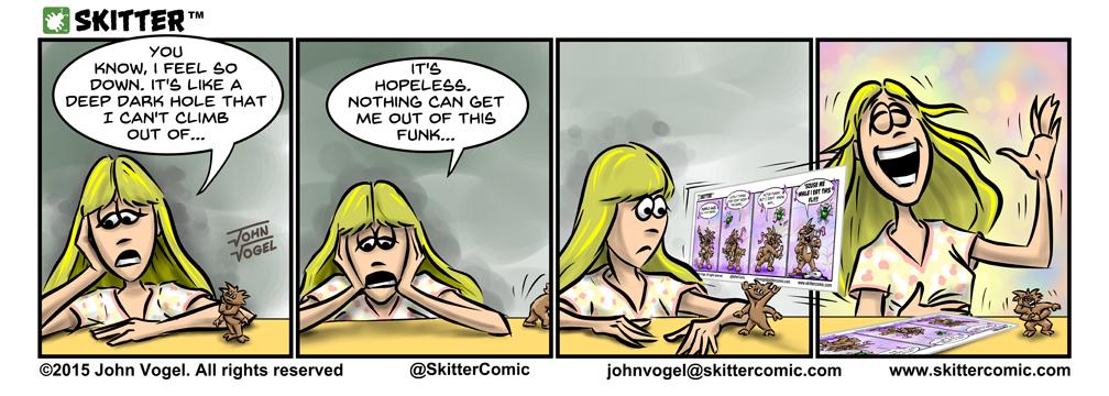 Go deep comic strip