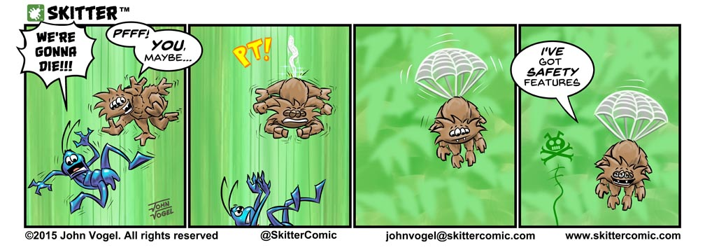 Yes... that's where webs come from...