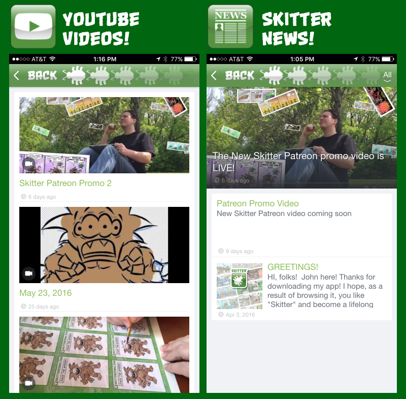 Skiter iPhone App Screen Shots_YOUTUBE