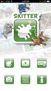 Skitter app main screen
