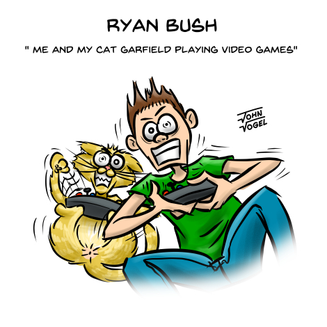 REQUEST_Ryan And Garfield playing video game_470