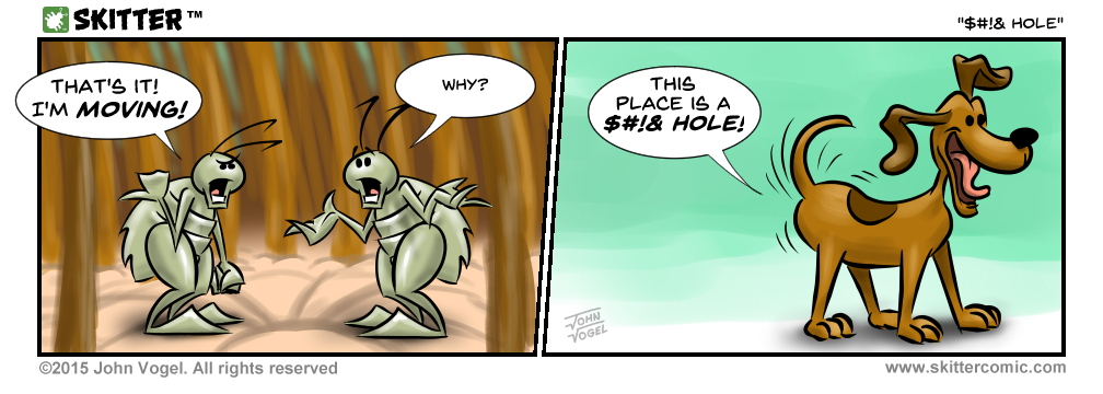 This strip was a redo.  I didn't like the first version, which is still viewable on Patreon.
