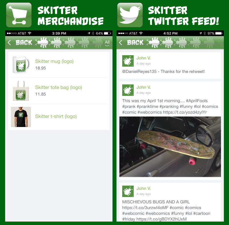 Skiter iPhone App Screen Shots_MERCH